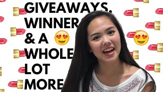 giveaways winners and a whole lot more