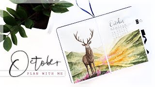 OCTOBER 2019 Plan With Me // Bullet Journal Monthly Setup