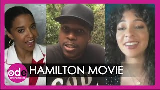 HAMILTON Cast: Making Mistakes & Performing For Film