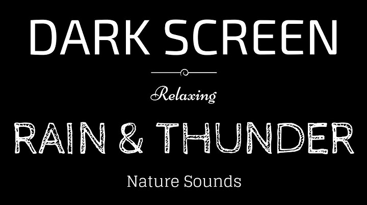 Permanent Link to RAIN AND THUNDER Sounds for Sleeping DARK SCREEN | Sleep and Relaxation | BLACK SCREEN