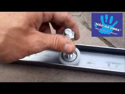 Port o de correr com roldana m o na obra youtube - Chapa aluminio leroy merlin ...