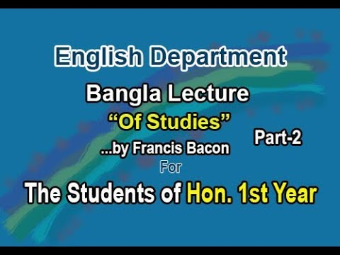critical analysis of the essay of studies by francis bacon Find all available study guides and summaries for bacon's essays by francis bacon if there is a sparknotes, shmoop, or cliff notes guide, we will have it listed here.