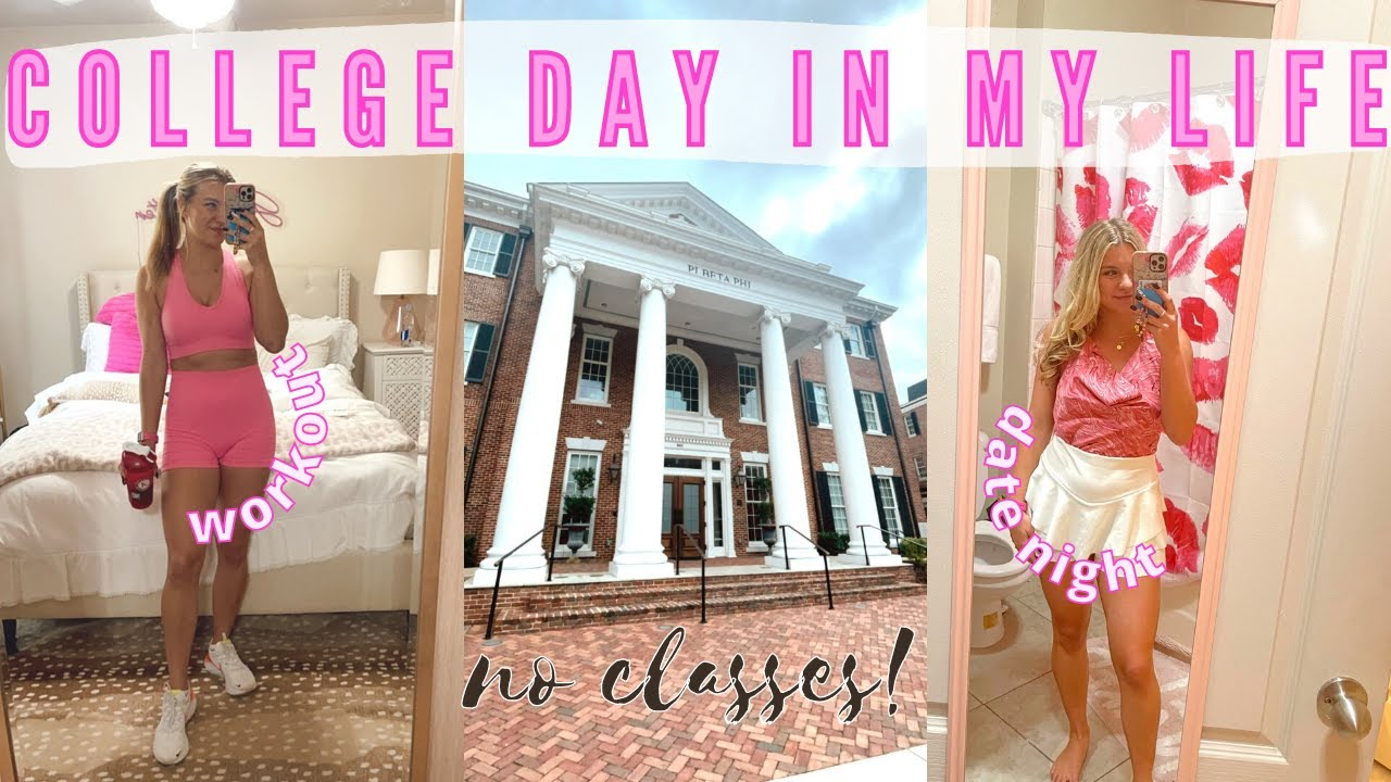 College Day in My Life: canceled class, chit chat, DIY project, etc!