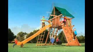 Memphis Wooden Swing Set - Call 1-901-888-3523 - Happy Backyards