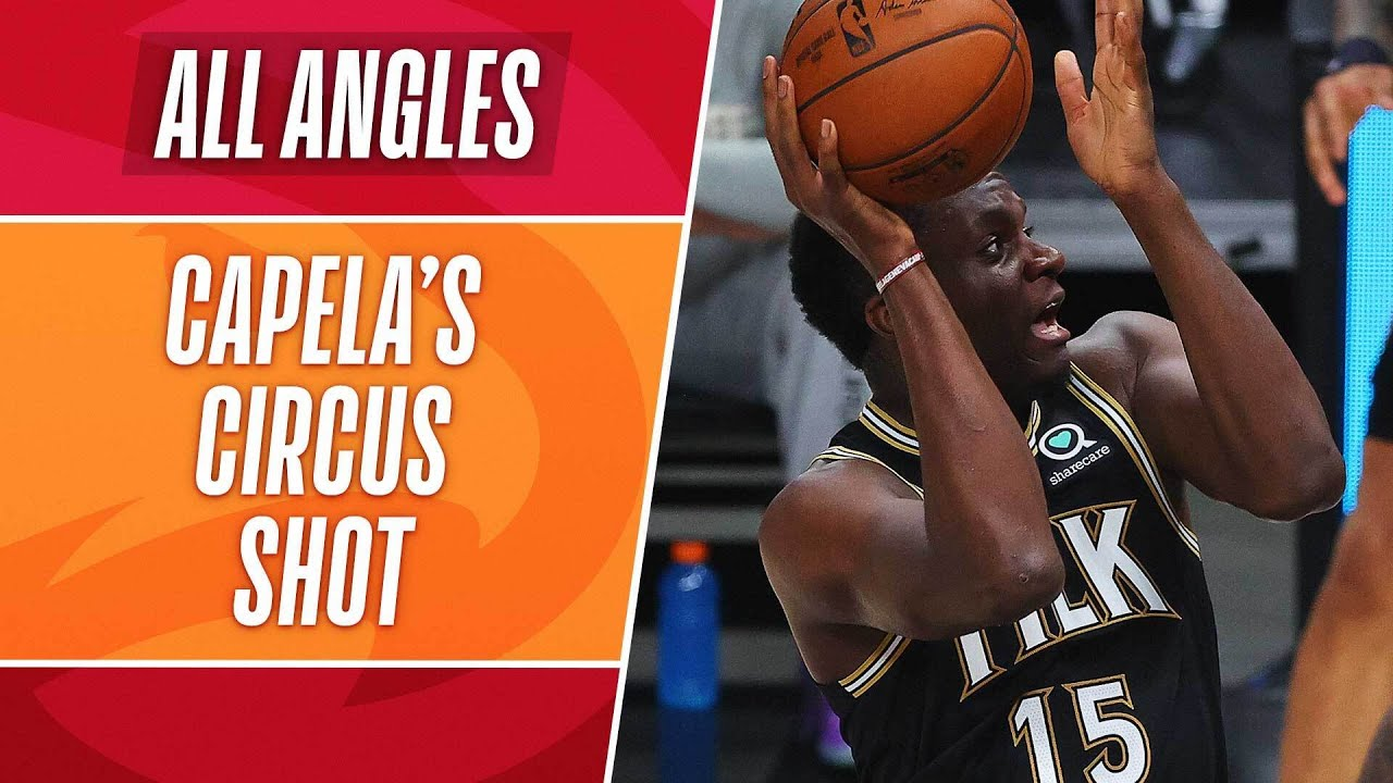 Clint Capela's WILD shot OVER the backboard! #NBAPlayoffs | All Angles