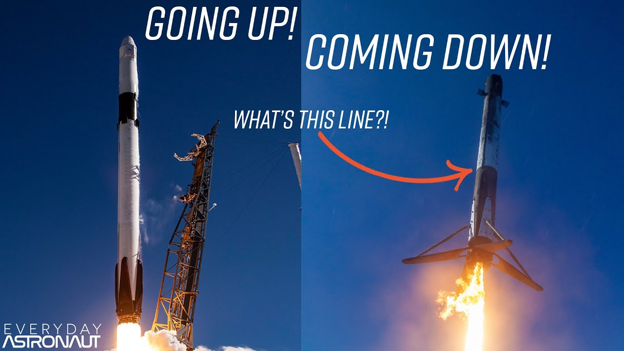 why-do-spacex-rockets-take-off-white-and-come-back-black-and-white
