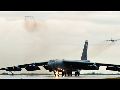 Symbol Of American Power: B-52 Bombers Minimum Interval Takeoff