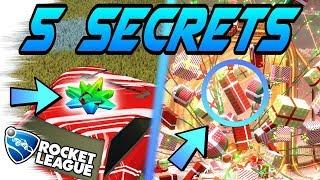 Rocket League Gameplay: 5 FROSTY FEST SECRETS You Don't Know + Secret Santa Crates! (Painted Items)