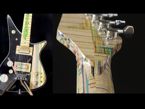 Guitar Made of Old Skateboards & Used Acrylic