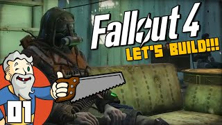 """""""ALL THE COMFORTS OF HOME!!!"""" Fallout 4 LET'S BUILD Part 1 - 1080p HD PC Gameplay Walkthrough"""