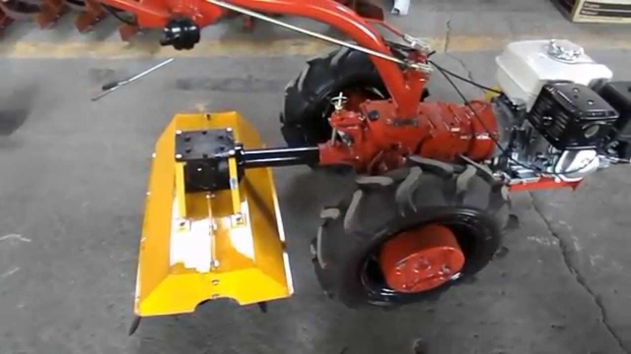 Фреза ФР-00700-Б к мини трактору МТЗ - YouTube