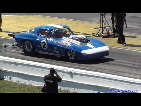 872 ci Drag Week Nitrous Vette of David Schroeder at Indy