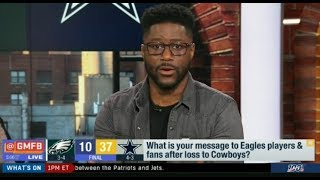 "GMFB | Nate Burleson ""PREDICTS"": What is your message to Eagles player & fans after loss to Cowboys?"