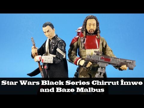 "Star Wars Rogue One 6/"" Black Series CHIRRUT IMWE #36 BAZE MALBUS #37 Figures"