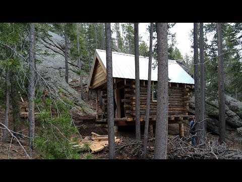 DIY: Building Off Grid 10x12 Hunting Log Cabin