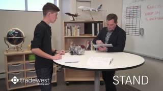 ENERGI™ Sit Stand Mobile Table - Pneumatic One-Touch Adjust