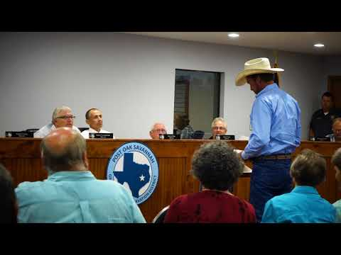 Part One: Post Oak Savannah Groundwater Conservation District Meeting 10-3-17