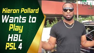 Kieron Pollard has his eyes on the HBL PSL Draft 2018
