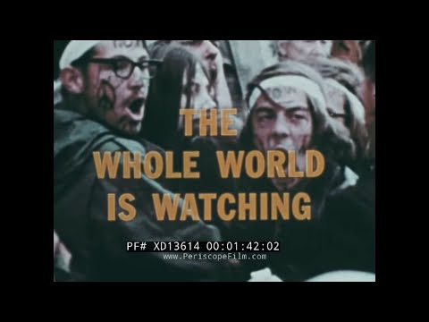 """1971 MAY DAY ANTI-VIETNAM WAR PROTEST FILM  """"THE WHOLE WORLD IS WATCHING"""" WASHINGTON D.C. XD13614"""