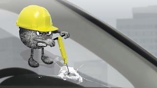Oprava čelního skla scelením - Autoskla CARSiN KV
