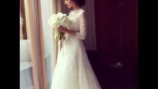 Анастасия Шубская в свадебном платье