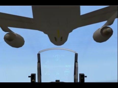 F-16 F 4.0+RV HQ A-A REFUELING PART 3