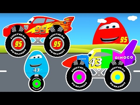 Thumbnail: MCQUEEN MONSTER TRUCK & Surprise Eggs for Kids in Cars Cartoon for Toddlers w Colors for Children