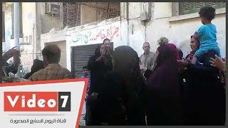 وقفة احتجاجية لأهالى تل العقارب أمام الوزراء للمطالبة بتوفير وحدات سكنية