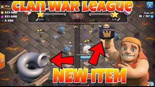 Total information of new clan war league, New items, new defence clash of clans(Hindi)sam1735