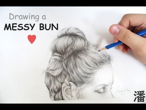 Drawing A Messy Bun Youtube