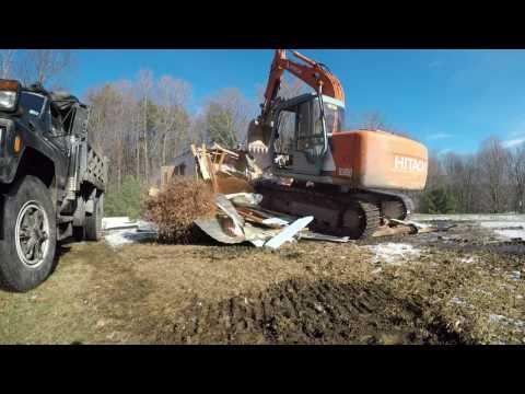 Demolishing a mobile home