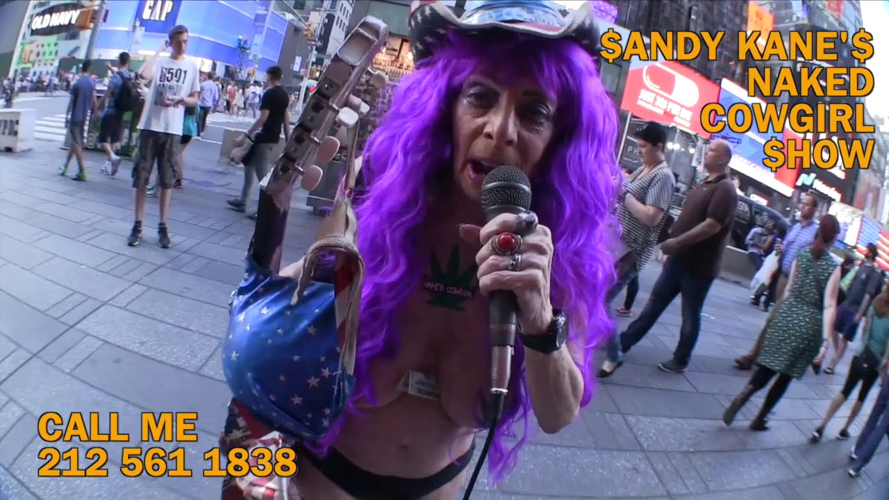 NAKED COWGIRL SANDY KANE PERFORMING HER DD SET IN TIME