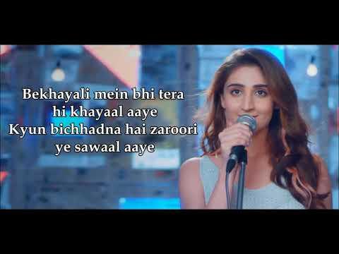 bekhayali-acoustic-lyrics-|-female-version-|-dhvani-bhanushali-|-sachet-parampara-|-kabir-singh-|