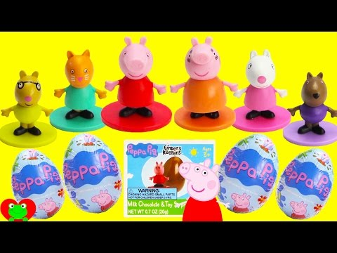 Best Learn Colors Video For Preschool With Peppa Pig Chocolate Surprise Eggs