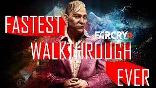 How To Finish Far Cry 4 In 15 Minutes | Fastest Walkthrough Ever | Alternate Ending | Easter Egg