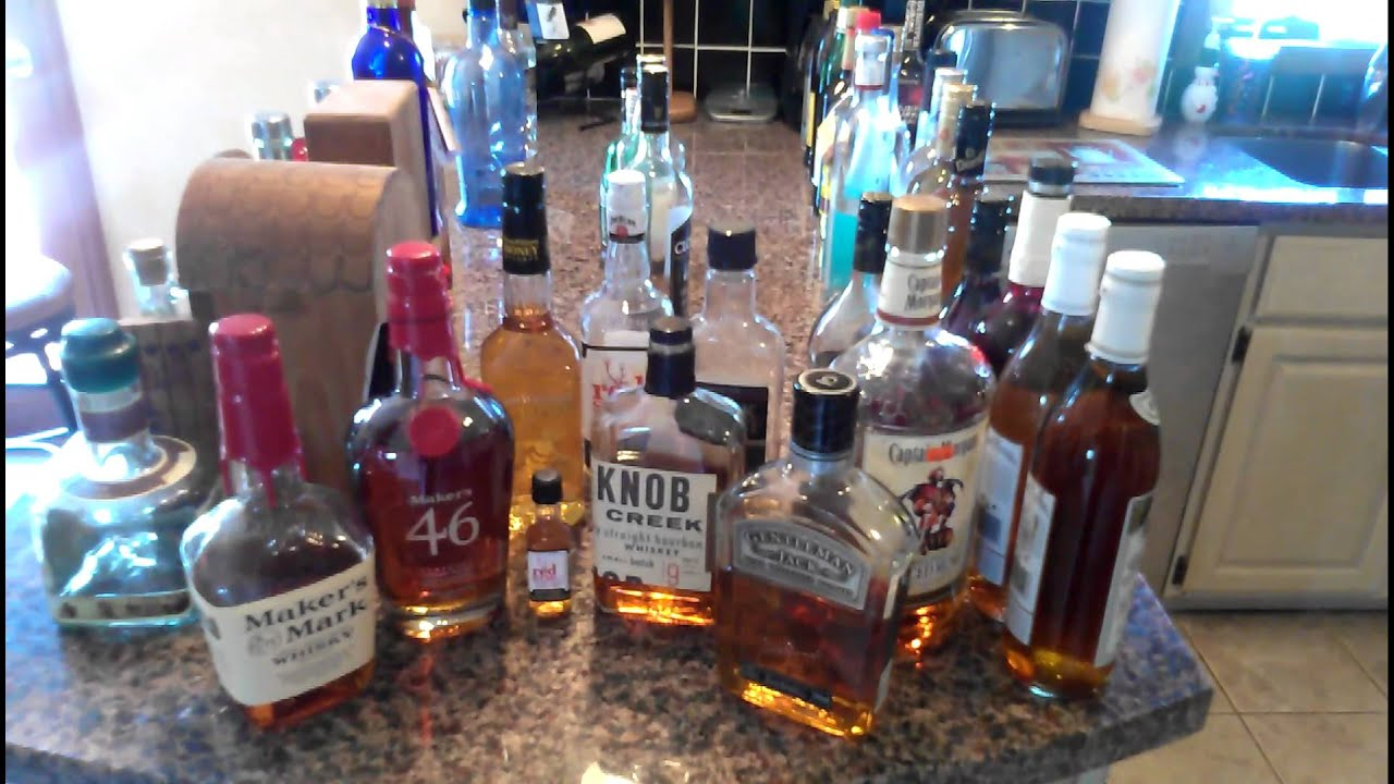 My liquor collection - YouTube