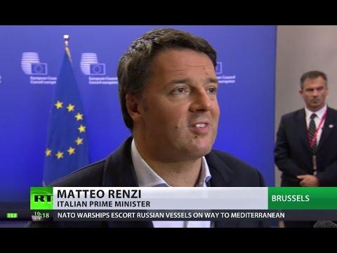 Italian PM Renzi blocks new Russia sanctions over Aleppo at EU summit
