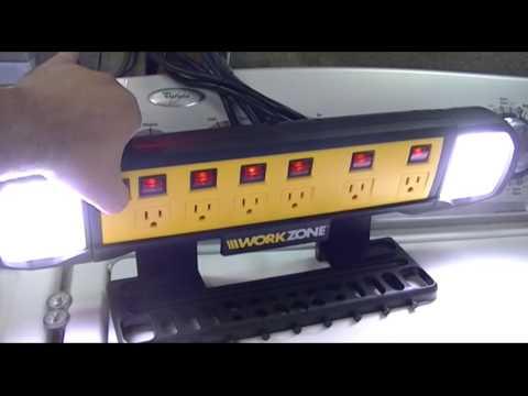 Workzone Aldi Wall Mount Power Board W Led Lights Amp Tool