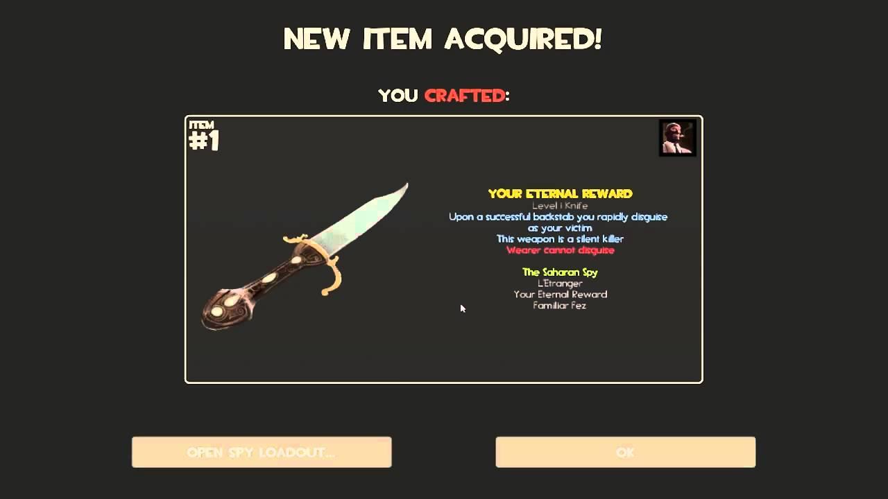 How To Craft Your Eternal Reward New Spy Knife Tf2