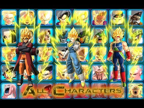 Dragon ball z battle of z characters