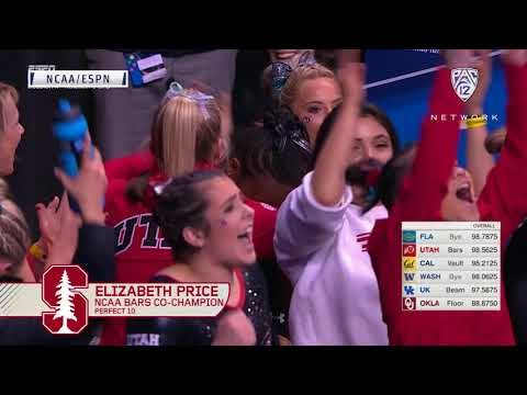 Highlights: Stanford gymnast Elizabeth Price scores perfect 10 on her last career routine