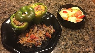 How to Make: Stuffed Green Bell Peppers Keto & Diabetic Friendly