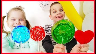 Making 3 Candies out of Play Doh and Learn Colors! Surprise Candies! #3