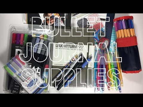 BULLET JOURNAL SUPPLIES FOR 2017 | WHAT I'LL BE USING!