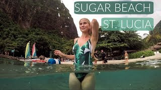 WATCH THIS BEFORE YOU GO: 4K Drones Over Sugar Beach, St. Lucia