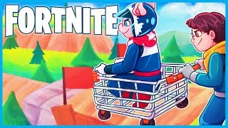 *GIANT* MOUNTAIN SHOPPING CART RAMPS in Fortnite: Battle Royale! (Fortnite Funny Moments & Fails)