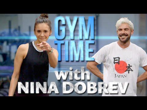 Nina Dobrev Crushes my Workout | Gym Time w/ Zac Efron
