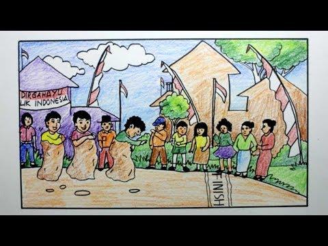 92 Gambar Anak Tk Tema Hut Ri - Infobaru