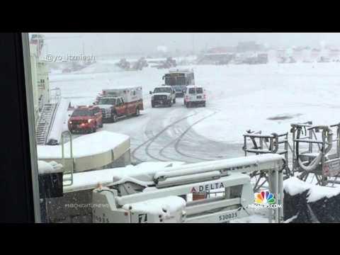 Delta Plane Skids Off Runway At LaGuardia Airport | NBC Nightly News