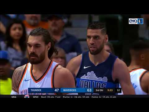 Salah Mejri & Dwight Powell 16 pts 10 rebs 5 BLOCKS Combined vs Thunder | Nov 26, 2017